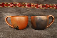 Micaceous Clay Coffee Cups, by Felipe Ortega