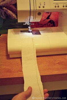 How to sew a ruffle with a zig zag stitch