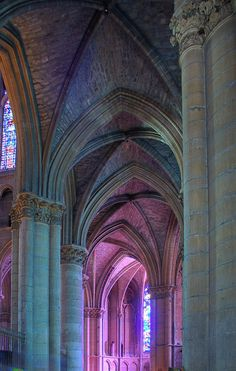 Light in the ambulatory ~ Reims Cathedral, France