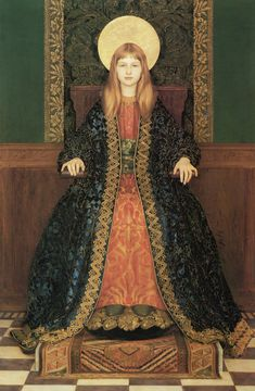 Thomas Cooper Gotch - The Child Enthroned - 1894