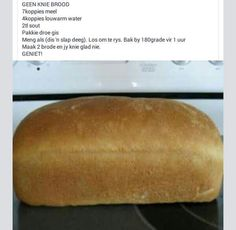 Bread Machine Recipes, Bread Recipes, Baking Recipes, How To Make Bread, Food To Make, Cut Recipe, Sponge Cake Recipes, South African Recipes, Garlic Bread