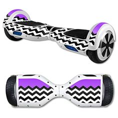 MightySkins Protective Vinyl Skin Decal for Self Balancing Scooter Board mini hover 2 wheel x1 razor wrap cover sticker Purple Chevron -- Awesome products selected by Anna Churchill