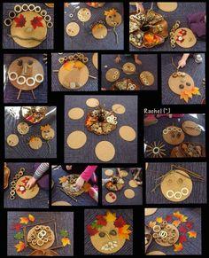 "Transient art faces and other creations from Rachel ("") Eyfs Activities, Autumn Activities, Toddler Activities, Reggio Inspired Classrooms, Reggio Classroom, Kindergarten Art, Preschool Art, Reggio Emilia, Autumn Eyfs"
