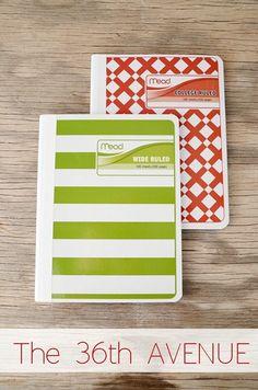 DIY Recipe Book Tutorial by the36thavenue.com So CUTE!