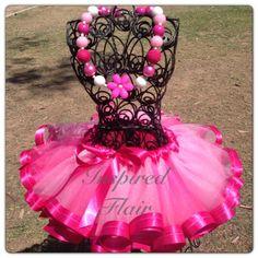 Custom Two Tone Pink tutu Ribbon Edged TutuChunky by InspiredFlair, $65.00