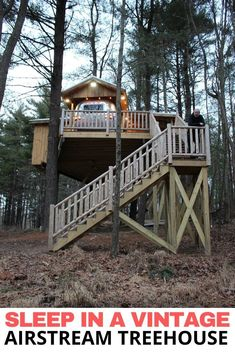 The Silver Bullet: Unplug and Recharge with a Romantic Treehouse Getaway Ohio Attractions, Best Romantic Getaways, Vintage Airstream, Silver Bullet, Best Places To Travel, Travel Couple, Weekend Getaways, The Good Place, House Styles
