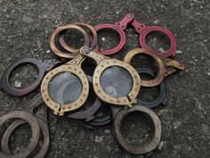 Medieval eyeglasses / medieval spectacles frames by brianbrownarmoury Medieval Life, Medieval Fashion, Medieval Clothing, Historical Clothing, Landsknecht, Linden Wood, Medieval Costume, Character Costumes, Grab Bags