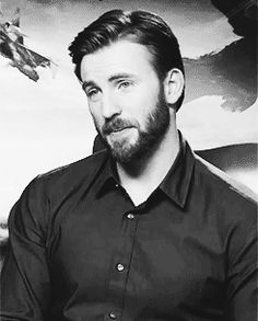 God like Chris Evans with beard