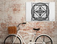 Discover «Mandala», Exclusive Edition Canvas Print by Stavroula Christopoulou - From 55€ - Curioos