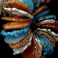 DSG Beads Handmade Organic Lampwork Glass Made by debbiesanders, $115.00
