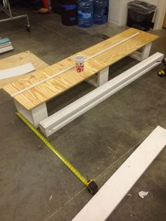 Build a shelf to place in a table to lift up your displayed items