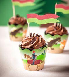 Cupcakes als Kindergeburtstagskuchen dekoriert für kleine Ritter Cupcakes, Snacks, Breakfast, Desserts, Kids, Food, Birthday Ideas, Knight Cake, Cute Food
