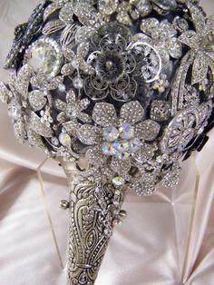 Crystal Brooch Bouquet