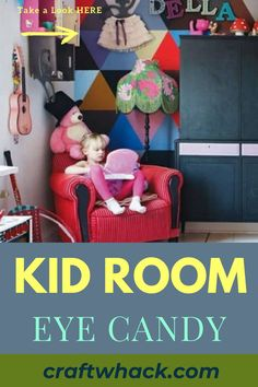 If your child's room looks a little drab and boring, it might be time to consider revamping and adding kid room eye candy. Adding a splash of color by repainting the walls, hanging new bright and beautiful curtains, or even just hanging some fairy lights, will completely change the overall look of your kid's bedroom, breathing new life and attitude into it. Read our article on Craft Whack for ideas on how to unleash your creativity. #KidsRoomEyeCandy #KidRoomDecorate #KidRoomIdeas #KidsRooms Crafts For Kids To Make, Art For Kids, Easy Art Projects, Beautiful Curtains, Beautiful Children, Fairy Lights, Kids Bedroom, Color Splash, Toy Chest