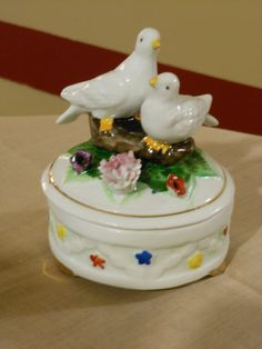 Royal Crown Trinket Box with Doves by RandysGallery on Etsy