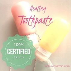 Easy cavity fighting and antibacterial Homemade Healing Toothpaste, that can be made for just pennies!