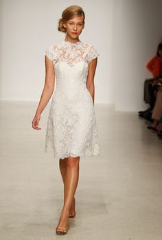 Brides.com: Lace Wedding Dresses from Spring 2013. Lace Wedding Dress: Amsale. Chloe, $2,500, Amsale See more Amsale wedding dresses