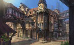 Pin by Patrick McEachen on D&D Fanatically Fantasy town Fantasy city Fantasy landscape