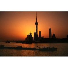 Oriental Pearl TV Tower and High Rises Shanghai China Canvas Art - Keren Su DanitaDelimont (18 x 12)