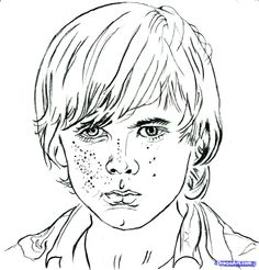 how to draw carl, carl from the walking dead, chandler riggs step 10