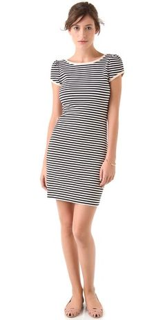 Puff Sleeve Stripe Dress / Juicy Couture  - Would love a t-shirt dress! :0)