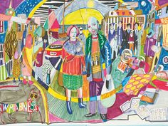 The earliest images in Grayson Perry's collection of drawings from his sketchbooks are strange and intense. Densely worked collages that date back to Perry's student years, they jangle with erotic tension. There are scenes of sexual humiliation and medieval torture, a demonic man-woman figure in bondage gear with horns, a forked tail, breasts and an erect penis, cut-out adverts of prepubescent girls in knickers, motor bikes and toy soldiers.