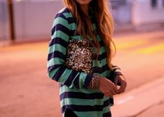 Zara sequin clutch