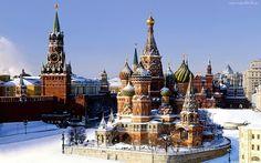 Moskwa, Rosja, Zima, Cerkiew
