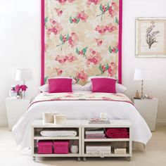 fabric/wallpaper with painted wall panelling