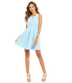 dc44744c644 Gianni Bini Fan Fav Margie Box-Pleat A-Line Dress