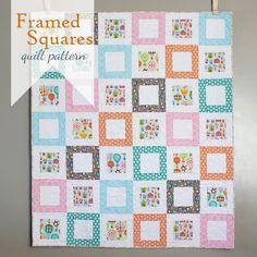 Framed Squares Free Quilt Pattern