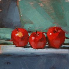 SMALL STILL LIFE PAINTINGS IN OIL