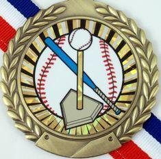 T-Ball Medal on Red, White & Blue Ribbon