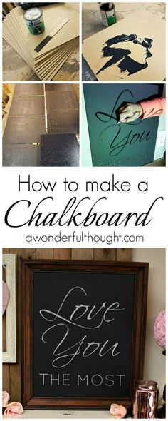 How to Make a DIY Chalkboard.  Perfect for decorating with chalkboard art for holidays and seasons! | http://awonderfulthought.com