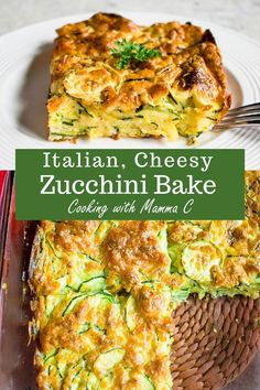 Cheesy Zucchini Bake - The best zucchini casserole with Romano and Parmesan! Made from scratch and so good. Cheesy Zucchini Bake - The best zucchini casserole with Romano and Parmesan! Made from scratch and so good. Cheesy Zucchini Bake, Parmesan Zucchini Chips, Chicken Zucchini Casserole, Zuccini Bake, Zucchini Squash Bake, Zuchinni Salad, Zucchini Cheese, Eggplant Zucchini, Veggie Casserole
