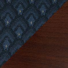 Wooden Mallet Dakota One Seat Bench Wood Finish: Dark Red Mahogany, Fabric: Watercolor Blue