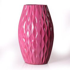 Adeco Decorative Gloss Finish Vertical Wave Design Tall Wood Vase, Purple >>> Read more at the image link. (This is an affiliate link and I receive a commission for the sales) Home Decor Vases, Wood Home Decor, Wooden Beams Ceiling, Glass Cylinder Vases, Vases For Sale, Wood Vase, Wave Design, Vase Centerpieces, Wave Pattern