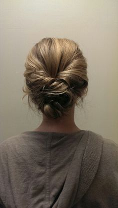 Fishtail braid updo - Home