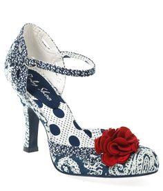 Ruby Shoo Ladies Paisley Clara Shoes Blue