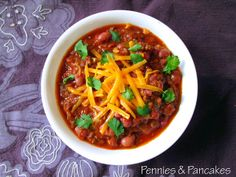 Pennies & Pancakes: Best Crockpot Chili ($0.57 per cup)
