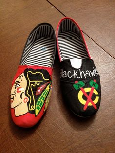 ~Hand painted canvas shoes. Perfect for any sports fan 003c2f52fbb