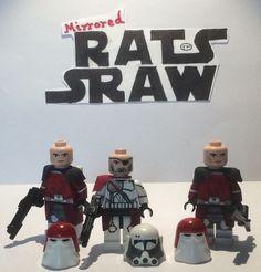 Lego Star Wars minifigures - Clone Custom Commander Bacara x2 Galactic Marines