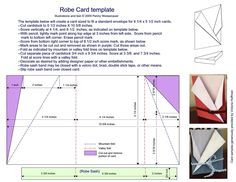 Robe Card Template Photo: This Photo was uploaded by Find other Robe Card Template pictures and photos or upload your own with Photobucket free . Card Making Templates, Card Making Tutorials, Card Making Techniques, Fancy Fold Cards, Folded Cards, Side Step Card, Swing Card, Step Cards, Up Book