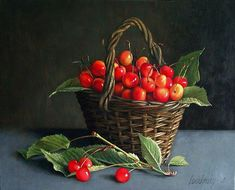 Le panier de cerise.this would be lovely framed