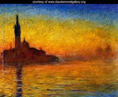 Twilight  Venice - Claude Oscar Monet - www.claudemonetgallery.org