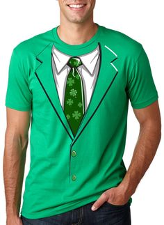 2efd1075 Crazy Dog Tshirts Green Irish Tuxedo T Shirt Funny St Patricks Day Shirt at  Sears.