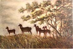 Oil on canvas - Susan Slump Impala, Oil On Canvas, Dawn, Moose Art, My Arts, Painting, Animals, Animales, Animaux