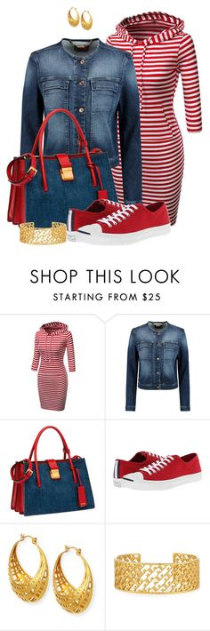 """""""FALL 2015 #64 by DaNewMeh"""" by thchosn ❤ liked on Polyvore featuring 7 For All Mankind, Miu Miu, Converse, NEST Jewelry and Tory Burch"""