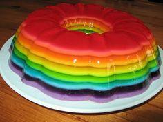 Five is Fine: Rainbow jello!