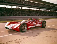 Dave MacDonald runs Mickey Thompson's Ford powered 83 car in the 1964 Indy 500 Indy Car Racing, Sports Car Racing, Indy Cars, Route 66, Classic Race Cars, Indianapolis Motor Speedway, Old Race Cars, Vintage Race Car, Amazing Cars